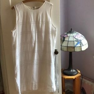 Gap White Linen Shift Dress